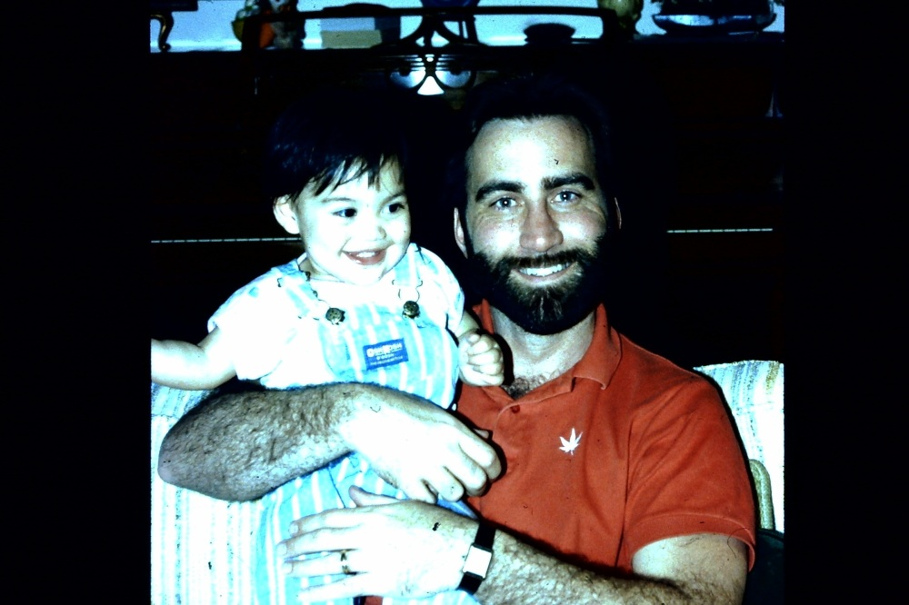 Dad and I xmas in San Antonio 1987