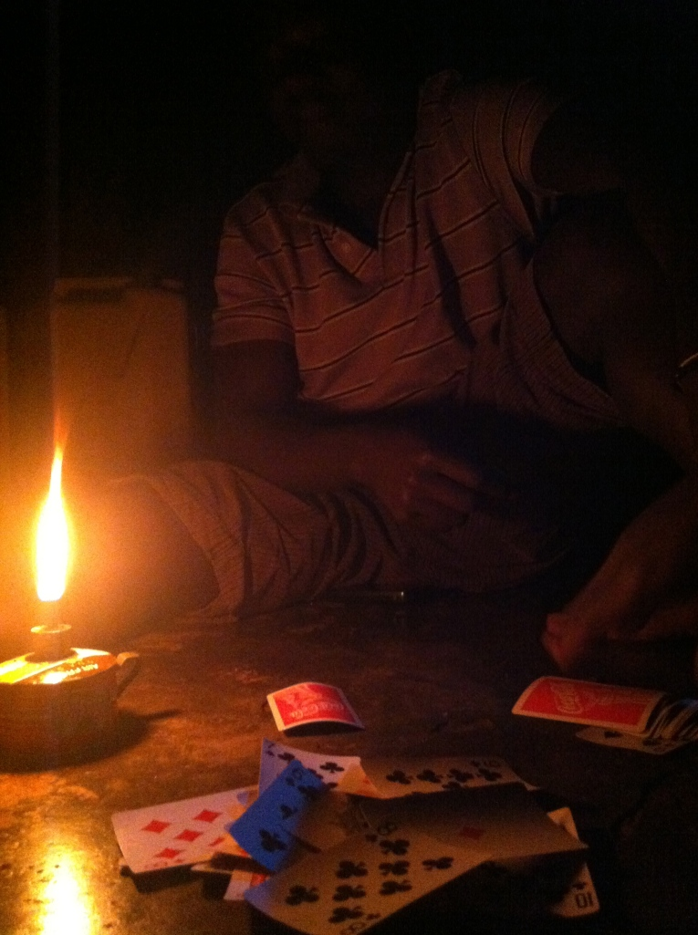 cards by candlelight