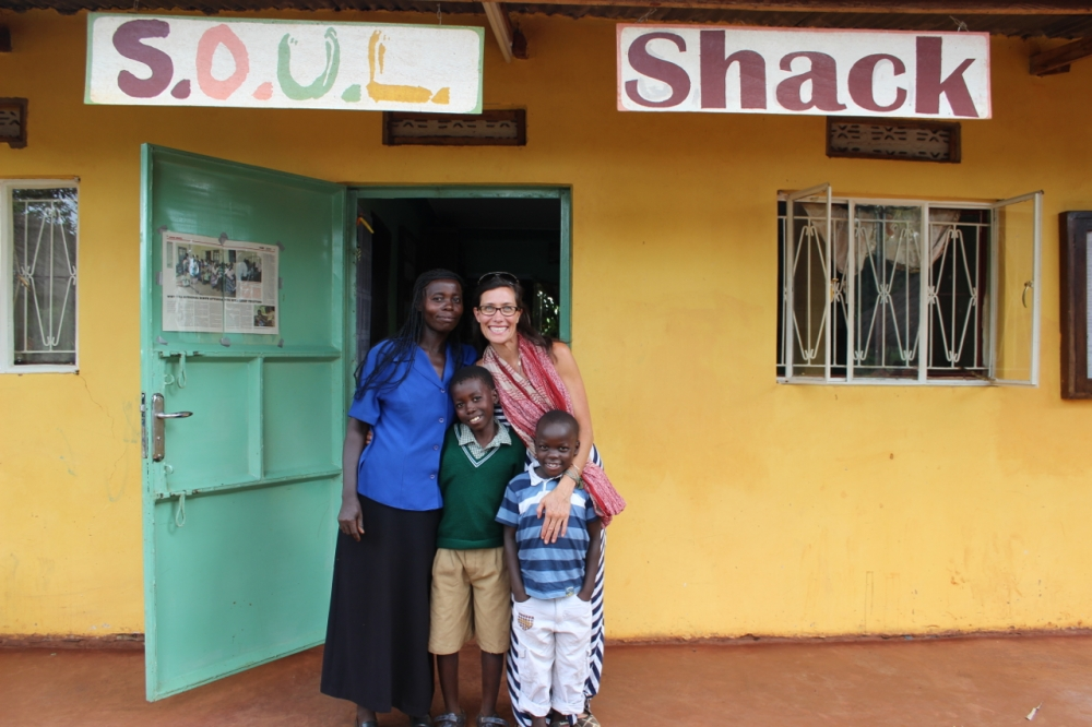 Lyn with Kisule, Benard and his mother (Kisule's aunt)