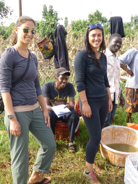 Steph (volunteer), Pheebs, Muganda and myself